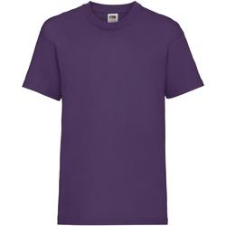 Vêtements Enfant T-shirts manches courtes Fruit Of The Loom 61033 Violet