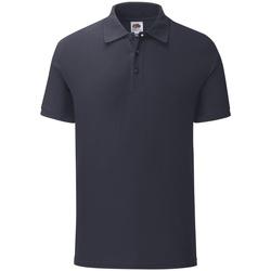Vêtements Homme Polos manches courtes Fruit Of The Loom Iconic Bleu marine foncé