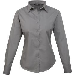 Vêtements Femme Chemises / Chemisiers Premier PR300 Gris