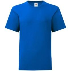 Vêtements Enfant T-shirts manches courtes Fruit Of The Loom Iconic Bleu roi
