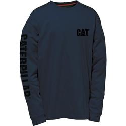 Vêtements Homme T-shirts manches longues Caterpillar TRADEMARK Bleu marine