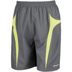 Vêtements Homme Shorts / Bermudas Spiro S184X Gris/Vert citron