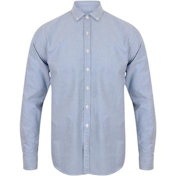 Vêtements Homme Chemises manches longues Front Row FR502 Bleu clair