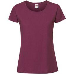 Vêtements Femme T-shirts manches courtes Fruit Of The Loom Premium Bordeaux