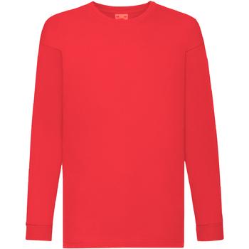 Vêtements Enfant T-shirts manches longues Fruit Of The Loom 61007 Rouge