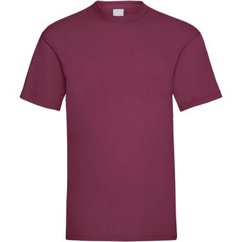Vêtements Homme T-shirts manches courtes Universal Textiles 61036 Rouge sang