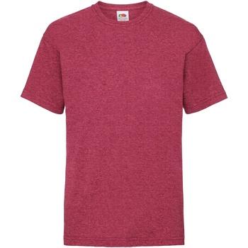 Vêtements Enfant T-shirts manches courtes Fruit Of The Loom 61033 Rouge vintage chiné