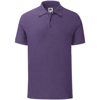 Vêtements Homme Polos manches courtes Fruit Of The Loom Iconic Violet chiné