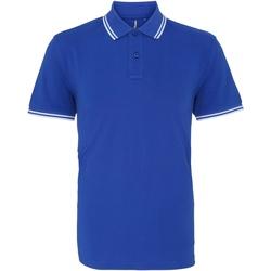 Vêtements Homme Polos manches courtes Asquith & Fox AQ011 Bleu roi/blanc