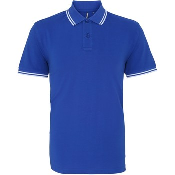 Vêtements Homme Polos manches courtes Asquith & Fox Classics Bleu roi/blanc
