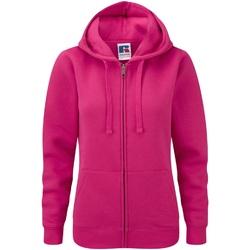 Vêtements Femme Sweats Russell Sweatshirt à capuche et fermeture zippée BC2731 Fuchsia