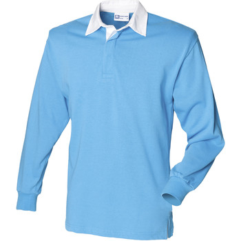 Vêtements Homme Polos manches longues Front Row Rugby Bleu surf/Blanc