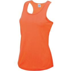 Vêtements Femme Débardeurs / T-shirts sans manche Just Cool Girlie Orange électrique