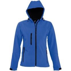 Vêtements Femme Coupes vent Sols Hooded Bleu roi