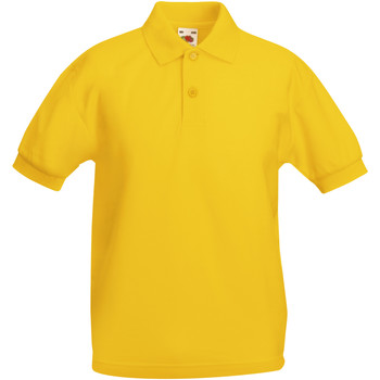 Vêtements Garçon Polos manches courtes Fruit Of The Loom Pique Tournesol