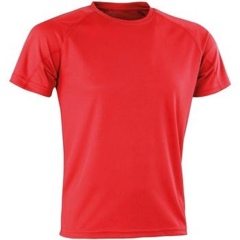 Vêtements T-shirts manches courtes Spiro Aircool Rouge