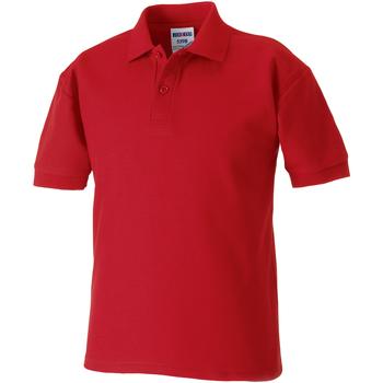 Vêtements Garçon Polos manches courtes Jerzees Schoolgear 65/35 Rouge