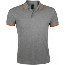 Vêtements Homme Polos manches courtes Sols Pasadena Gris chiné/orange