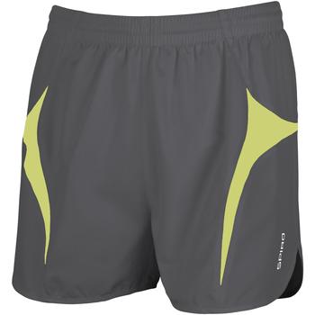 Vêtements Homme Shorts / Bermudas Spiro S183X Gris/Vert citron
