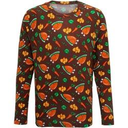 Vêtements Homme T-shirts manches longues Christmas Shop CS002 Marron