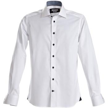 Vêtements Homme Chemises manches longues J Harvest & Frost Red Bow Blanc/Noir