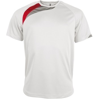 Vêtements Homme T-shirts manches courtes Kariban Proact Proact Blanc/Rouge/Gris