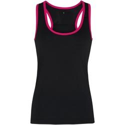 Vêtements Femme Débardeurs / T-shirts sans manche Tridri Panel Noir/Rose