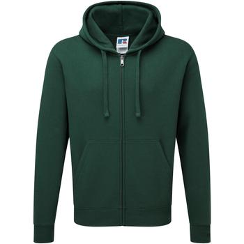 Vêtements Homme Sweats Russell Sweatshirt à capuche et fermeture zippée BC1499 Vert bouteille