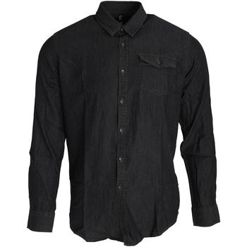 Vêtements Homme Chemises manches longues Premier PR222 Noir