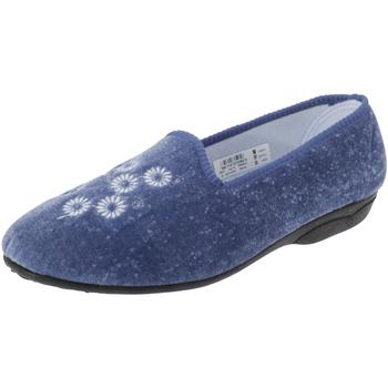 Chaussures Femme Chaussons Zedzzz Embroidered Bleu