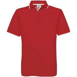 Vêtements Homme Polos manches courtes B And C Safran Rouge/Blanc