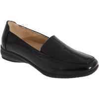 Chaussures Femme Mocassins Boulevard Gusset Noir verni