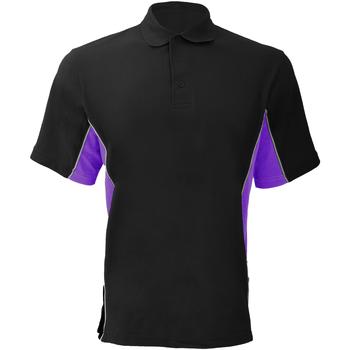 Vêtements Homme Polos manches courtes Gamegear KK475 Noir/Pourpre/Blanc
