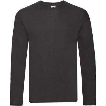Vêtements Homme T-shirts manches longues Fruit Of The Loom Original Noir