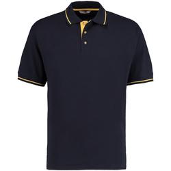 Vêtements Homme Polos manches courtes Kustom Kit KK606 Bleu marine/Jaune