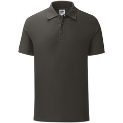 Vêtements Homme Polos manches courtes Fruit Of The Loom Iconic Gris fonce