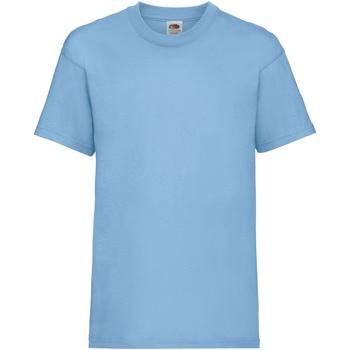 Vêtements Enfant T-shirts manches courtes Fruit Of The Loom 61033 Bleu ciel