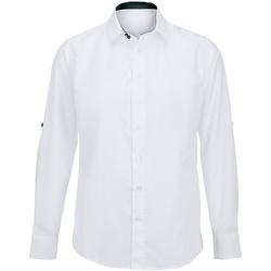 Vêtements Homme Chemises manches longues Alexandra Hospitality Blanc/Noir