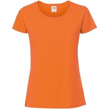 Vêtements Femme T-shirts manches courtes Fruit Of The Loom Premium Orange