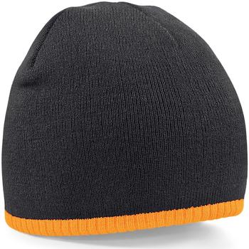 Accessoires textile Bonnets Beechfield B44 Noir/orange