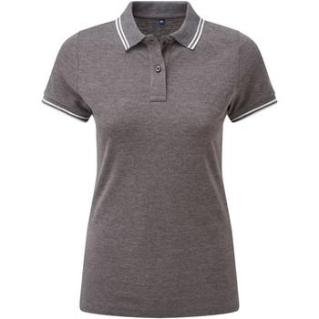 Vêtements Femme Polos manches courtes Asquith & Fox Classics Gris foncé / blanc