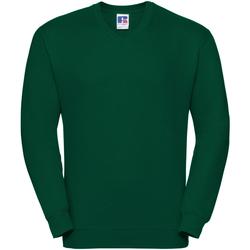 Vêtements Sweats Russell Sweatshirt à col en V BC1057 Vert bouteille
