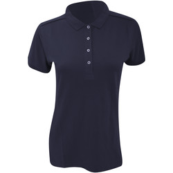 Vêtements Femme Polos manches courtes Russell Polo stretch à manches courtes BC3256 Bleu marine
