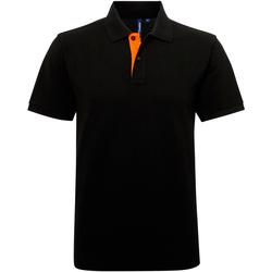 Vêtements Homme Polos manches courtes Asquith & Fox Contrast Noir/Orange