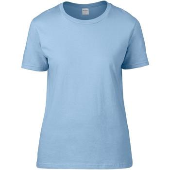 Vêtements Femme T-shirts manches courtes Gildan Premium Bleu clair