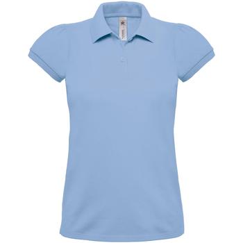 Vêtements Femme Polos manches courtes B And C Heavymill Bleu ciel