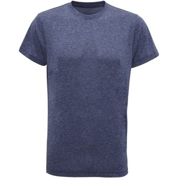Vêtements Homme T-shirts manches courtes Tridri TR010 Bleu chiné