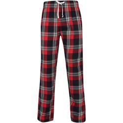 Vêtements Homme Pyjamas / Chemises de nuit Skinni Fit Tartan Rouge / bleu marine