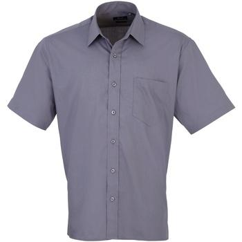 Vêtements Homme Chemises manches courtes Premier Poplin Acier