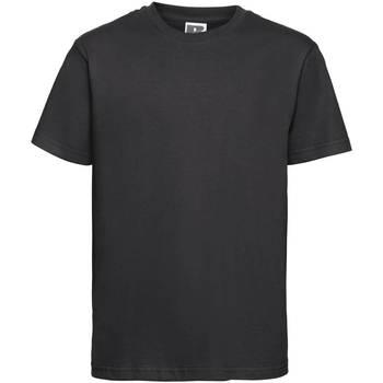 Vêtements Enfant T-shirts manches courtes Russell Tshirt à manches courtes Garçon PC2694 Noir